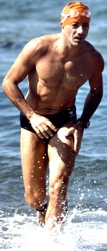 Daniele Marrama Saccente durante una gara di triathlon